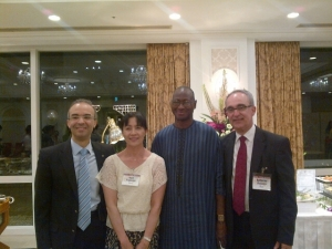 With Dr. Yayoi Tsujiyama (Japan), Dr.Mahamadou Sako (Mali) and Dr. Gilherme Costa (Brazil) candidates for Vice chairperson position of the CAC in 2014.