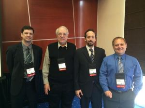From left to right : Michael Abbott (HC), Dr. Stephen Taylor (FARRP), Jean-Marc Gélinas (HC), Dr. Terry Koerner (HC)